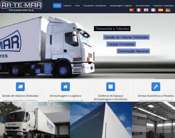 empresa Webdesign para criação site transportes