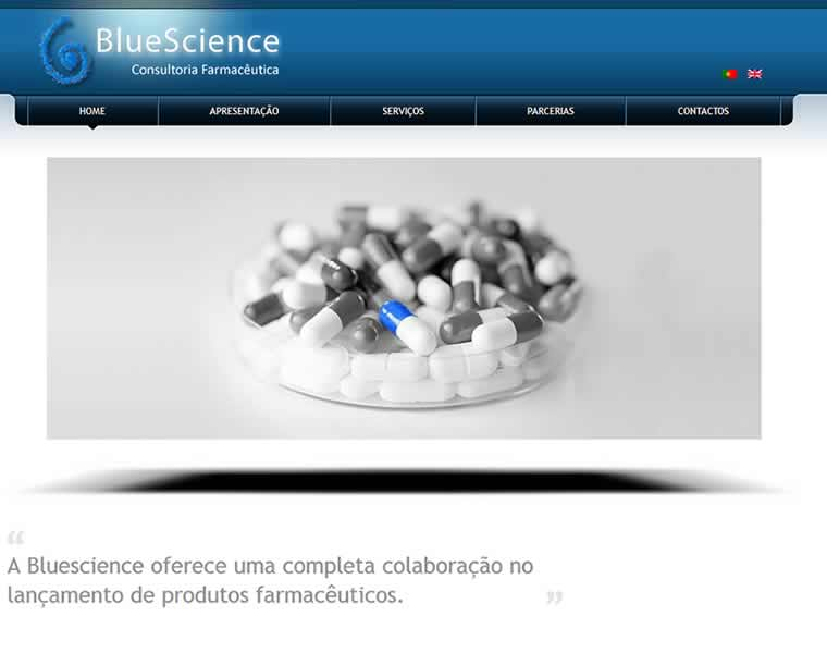 desenvolvimento sites sector farmaceutico